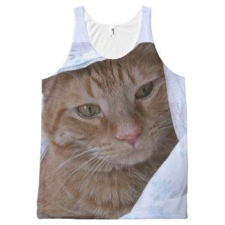 Orange Tabby Cat All-Over Print Tank Top