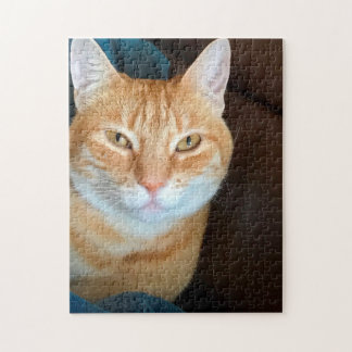Orange tabby cat jigsaw puzzle