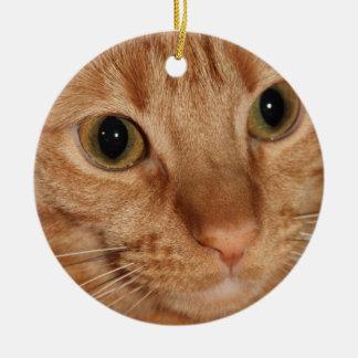 Orange Tabby Cat Profile Face Close up Christmas Ornament