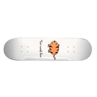 Orange tabby cat 21.3 cm mini skateboard deck