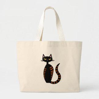 Orange Tabby Cat Tote Bags