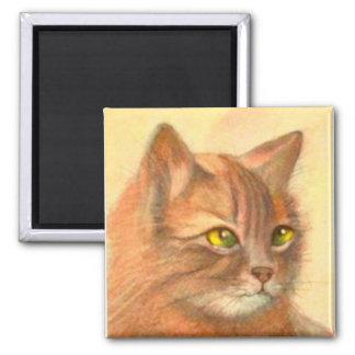 Orange Tabby Cat Vintage Fine Art Magnet