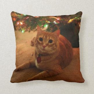 Orange Tabby Christmas Pillow