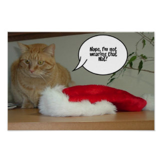 Orange Tabby Christmas Posters