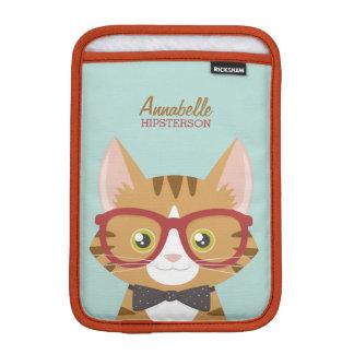 Orange Tabby Hipster Cat iPad Mini Sleeves