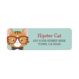 Orange Tabby Hipster Cat Kids