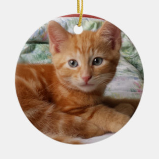 Orange Tabby Kitten Ornament