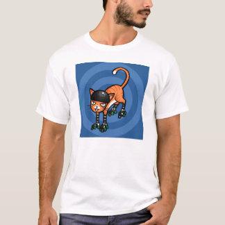 Orange tabby on rollerskates T-Shirt
