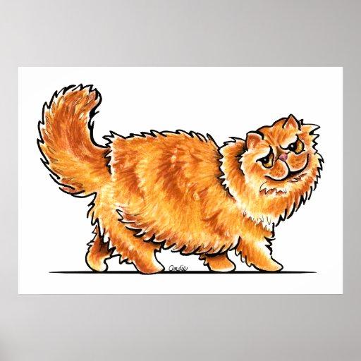 Orange Tabby Persian Cat Off-Leash Art™ Poster