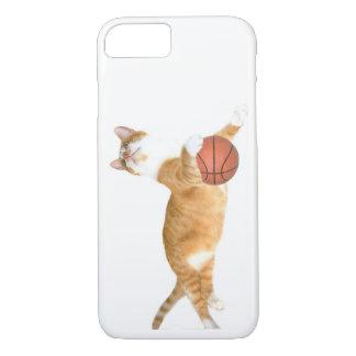 Orange tabby plays basketball iPhone 7 case