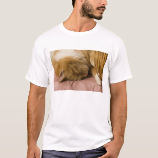 Orange tabby sleeping T-Shirt
