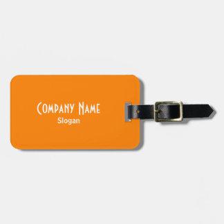 Orange Tag For Luggage