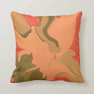 orange tangerine abstract art cushion