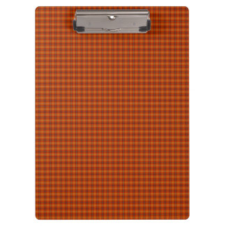 Orange Tartan Clipboard