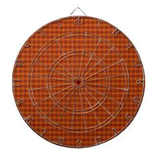 Orange Tartan Metal Cage Dartboard