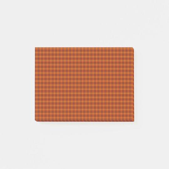 Orange Tartan Post-it® Notes
