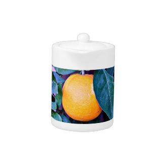 """""""Orange"""" Tea Pot"""