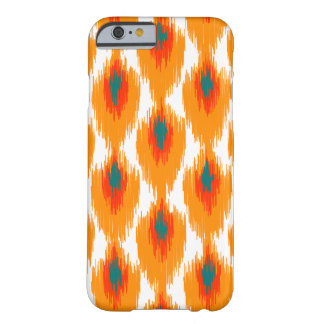 Orange Teal Abstract Tribal Ikat Diamond Pattern Barely There iPhone 6 Case