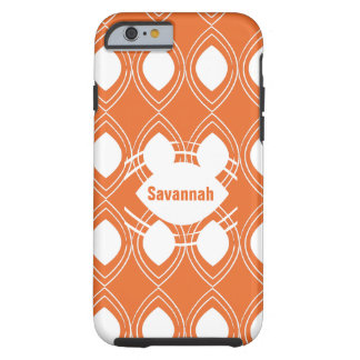 Orange Tear Drop Any Color Personalized iPhone Tough iPhone 6 Case