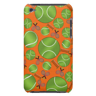 Orange tennis balls rackets and nets iPod touch case