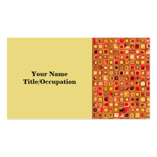 Orange 'Terracotta' Textured Mosaic Tiles Pattern Pack Of Standard Business Cards