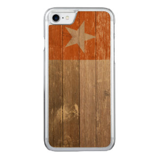 Orange Texas Flag Painted Old Wood Carved iPhone 7 Case
