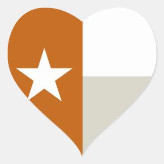 Orange Texas Flag Stickers