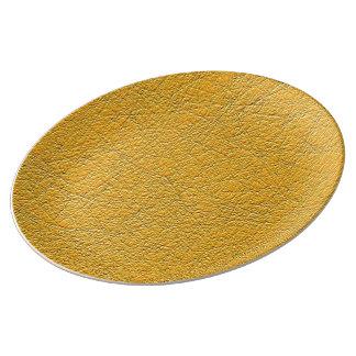 Orange texture plate