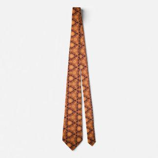 Orange texture tie