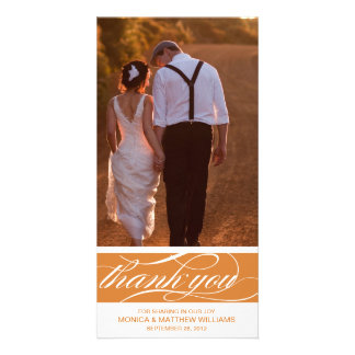 ORANGE THANKS | WEDDING THANK YOU CARD