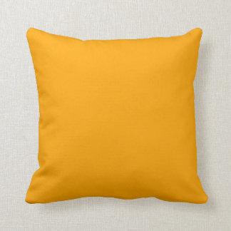 "Orange Throw Pillow - ""Customizable"""