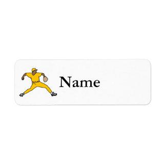Orange Throwing Player Return Address Label