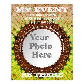 Orange Tiedye Photo Event Flyers