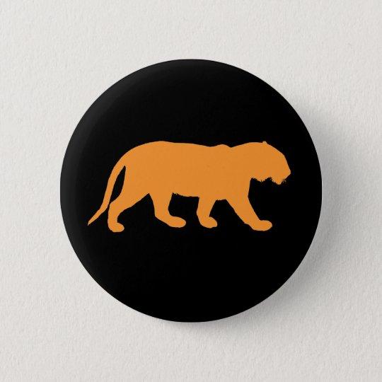 Orange Tiger 6 Cm Round Badge