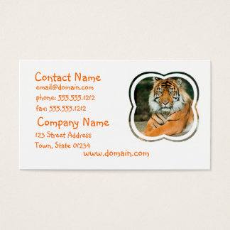 Orange Tiger Business Card