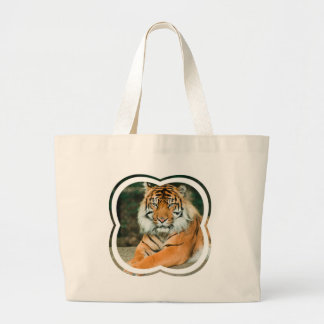 Orange Tiger Canvas Bag