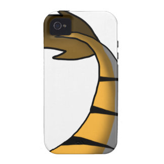 Orange Tiger/Dragon Hybrid Tail Case For The iPhone 4