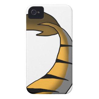 Orange Tiger/Dragon Hybrid Tail iPhone 4 Cases