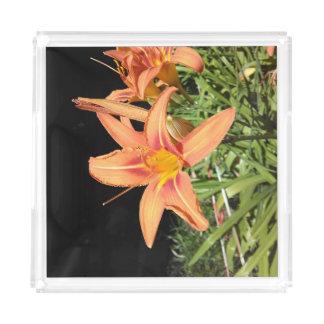Orange Tiger Lilies Acrylic Tray