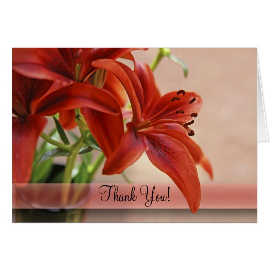 Orange Tiger Lily Close-Up Photograph Card