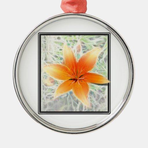 Orange Tiger Lily Christmas Tree Ornaments