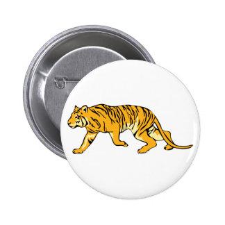 Orange Tiger on the Prowl 6 Cm Round Badge