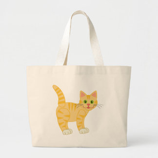 Orange Tiger Tabby Cat Tote Bags
