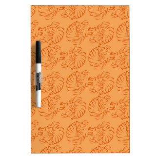 Orange Tigers Dry Erase Board