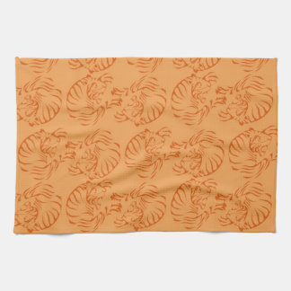 Orange Tigers Tea Towel
