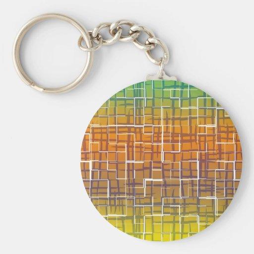 Orange Tiles Keychains
