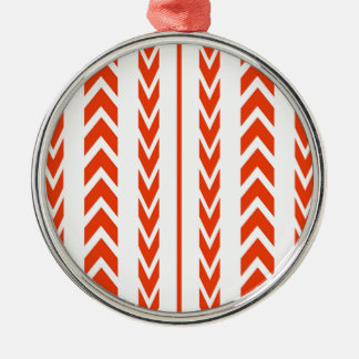 Orange Tire Tread Christmas Ornament