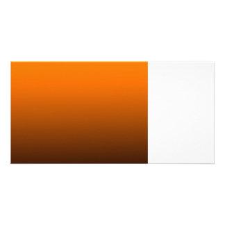 orange top dark bottom gradient custom background photo greeting card