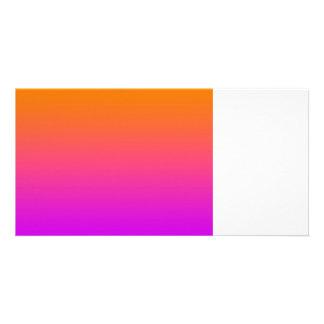 orange top purple bottom gradient DIY background Photo Greeting Card