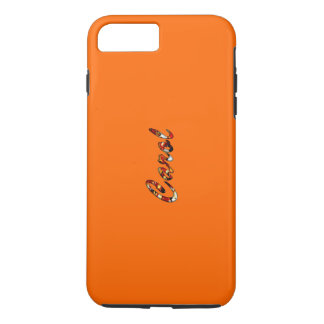 Orange Tough Style iPhone 7 Plus case for Carol
